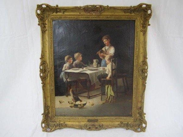 """140: A6-7 OIL PAINTING SIGNED """"A. GOULD"""""""