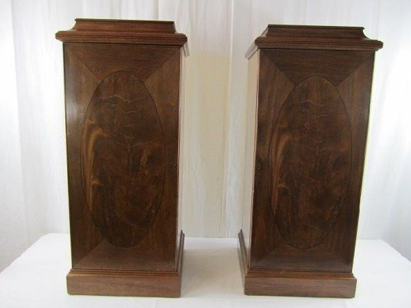528: A32-51 PAIR OF DINING ROOM PEDESTAL CUPBOARDS