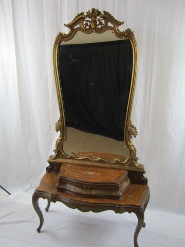 530: A32-64 FRENCH STYLE DRESSNG TABLE WITH MIRROR