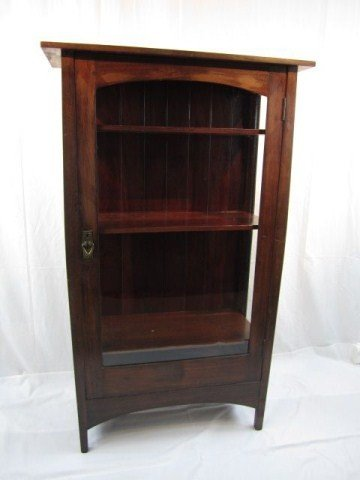 566: A4-1 GUSTAV STICKLEY 1912 CHINA CABINET SIGNED