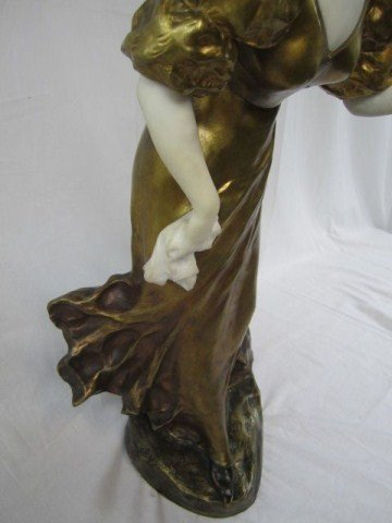 "597: A11-18 MARBLE & BRONZE STATUE SIGNED ""A. GORY"" - 2"