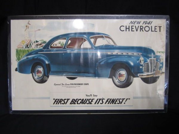 11: A18-55 SET OF FOUR CHEVROLET SHOWROOM POSTERS