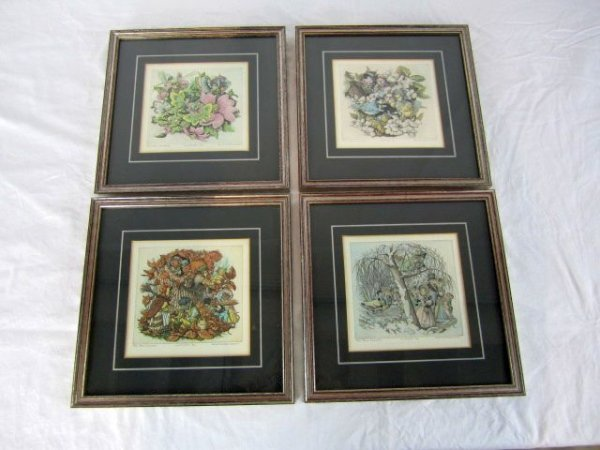 "1: C11-2 SET OF ""THE FOUR SEASONS"" COLOR ETCHINGS"