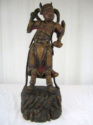 525: A17-45 CHINESE CARVED WOOD FIGURE