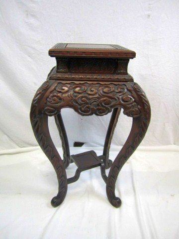 528: A18-48 ORIENTAL CARVED STAND