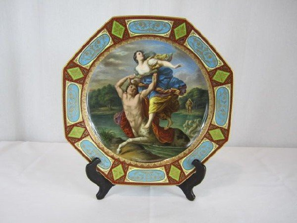 603: A6-64 ROYAL VIENNA HAND PAINTED PORCELAIN PLATE