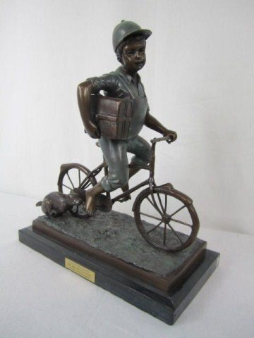 4: A10-4 BOY ON BICYCLE BRONZE