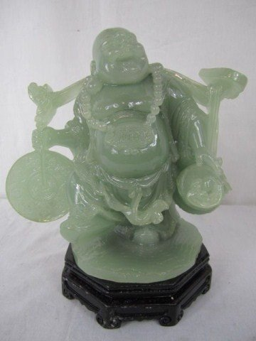 9: A10-9 CAST & CARVED JADE FANCY BUDDA