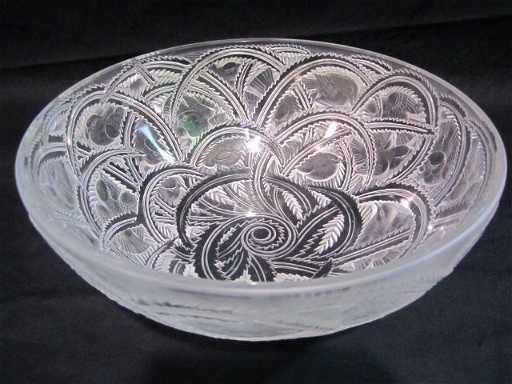 38 C45 9 Lalique Bowl With Birds