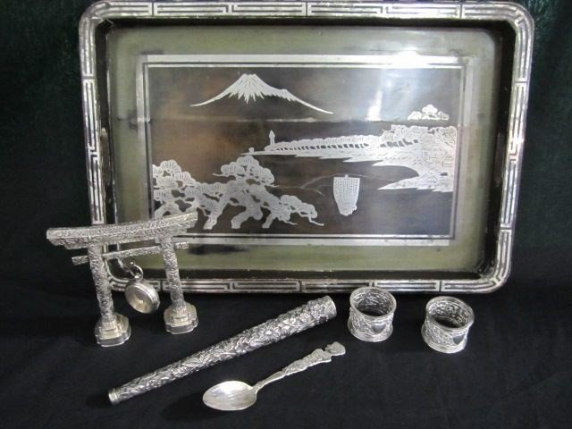 15: A4-1 LOT OF 7 PIECES OF CIRCA 1800s SILVER