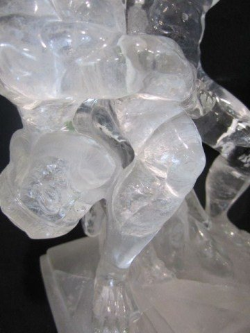 128A: A45-8 ROCK CRYSTAL NUDE MALE WRESTLERS SIGNED - 2