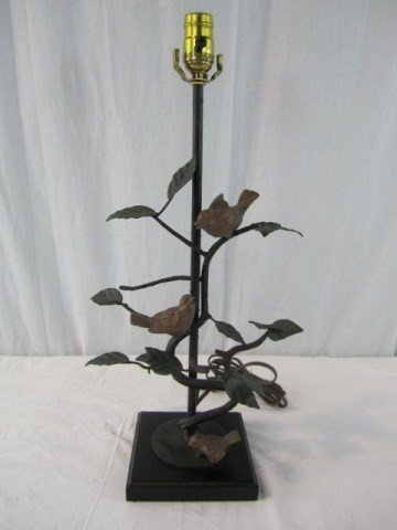 502: A14-137 BRONZE PAINTED BIRD GROUP LAMP