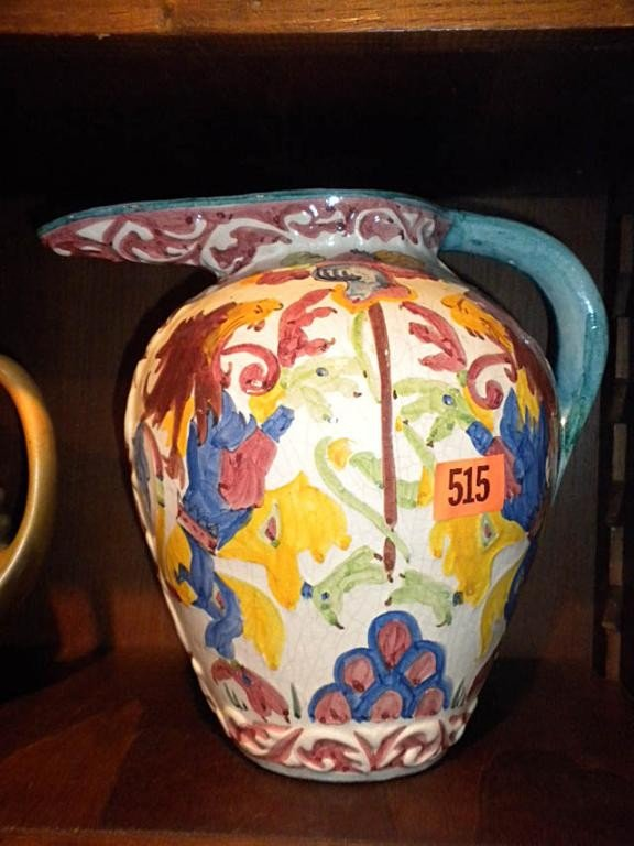 "515: (M645) HAND PAINTED & SIGNED ""RIGA"" VASE"