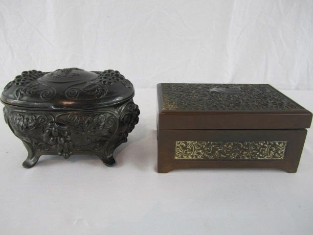 522: A4-4  LOT OF 2 FRENCH TRINKET BOXES