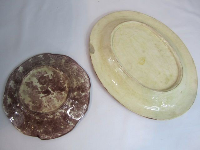 9: C93-60  TWO MAJOLICA PLATES - 3