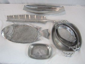 16: C93-10  COLLECTION OF 9PCS. OF PEWTER