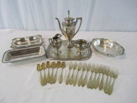 24: A41-6  ASSORTED 25PCS. SILVER PLATE