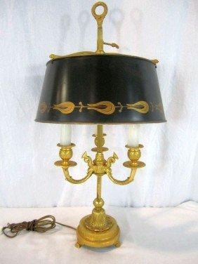 A45-26  FRENCH BRONZE BOUILLOTTE LAMP