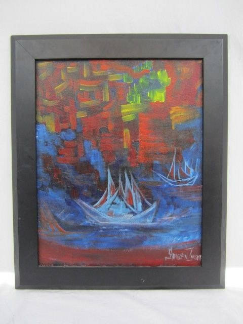 "102: D66-2  ""THE SHIPS OF DESTINATIONS"" OIL PAINTING"