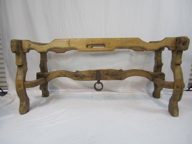 104: A14-3  CARVED WOOD TABLE BASE