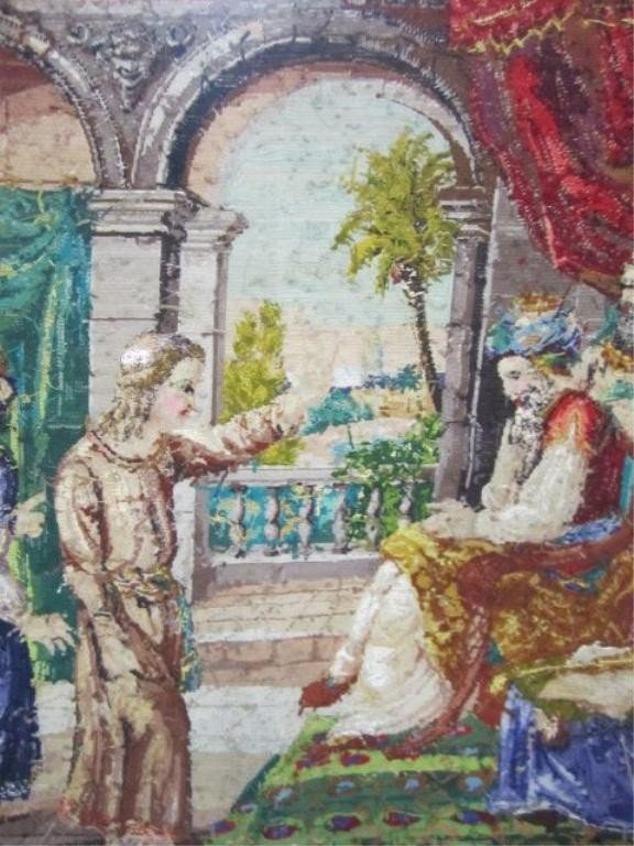 """130: A46-33  MOSES NEEDLEPOINT """"LET MY PEOPLE GO"""" - 3"""