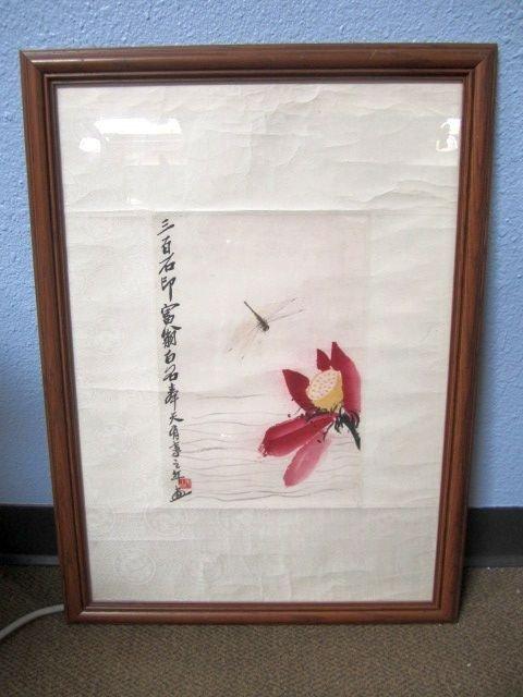"155: D56-8  CHINESE ARTIST ""QI BAISHI"" PAINTING"