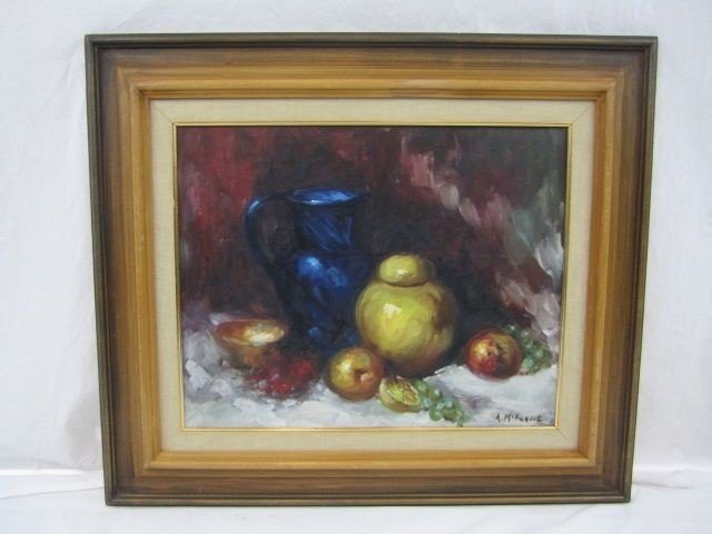 157: D40-8  A. MCKENZIE SIGNED OIL ON CANVAS