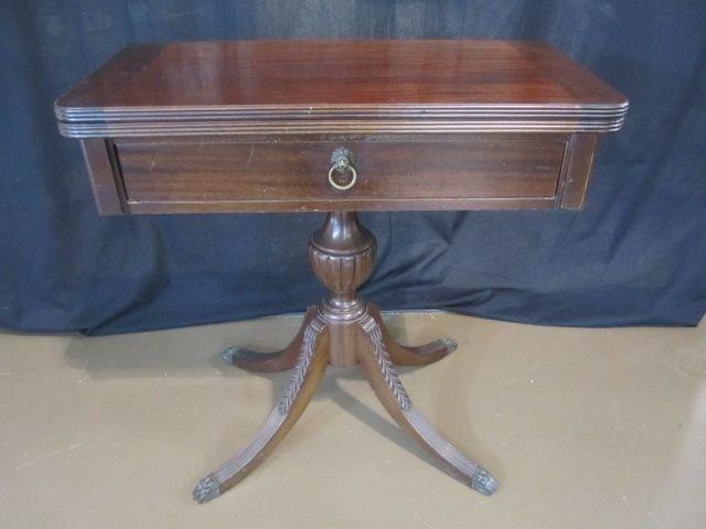 167: C93-37  MAHOGANY FOLDOUT TABLE
