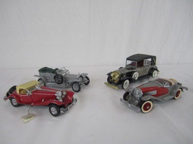 504: C98-3  LOT OF 4 FRANKLIN MINT CARS