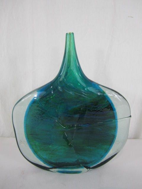 522: D65-3  MDINA  ART GLASS FISH HEAD VASE