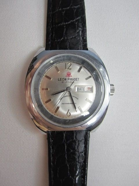 78: C78-6  LEON PIRADET 1970s 21 JEWELS WATCH