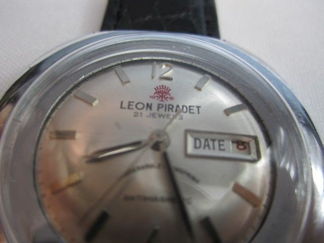 78: C78-6  LEON PIRADET 1970s 21 JEWELS WATCH - 2