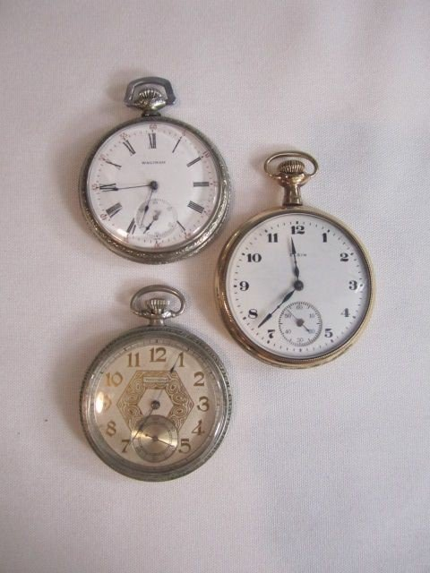 256: C78-18  LOT OF 3 POCKET WATCHES