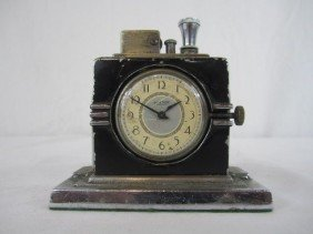 A44-157  RONSON CIGAR LIGHTER CLOCK