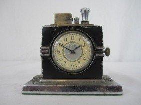 508: A44-157  RONSON CIGAR LIGHTER CLOCK