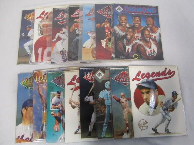 12: D50-12  BOX LOT LEGENDS SPORTS & DIAMOND MAGAIZNES