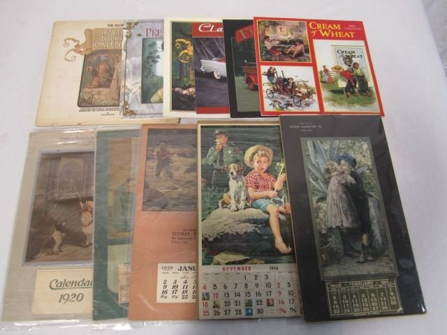 15: D50-15  BOX LOT OF 11 CALENDARS