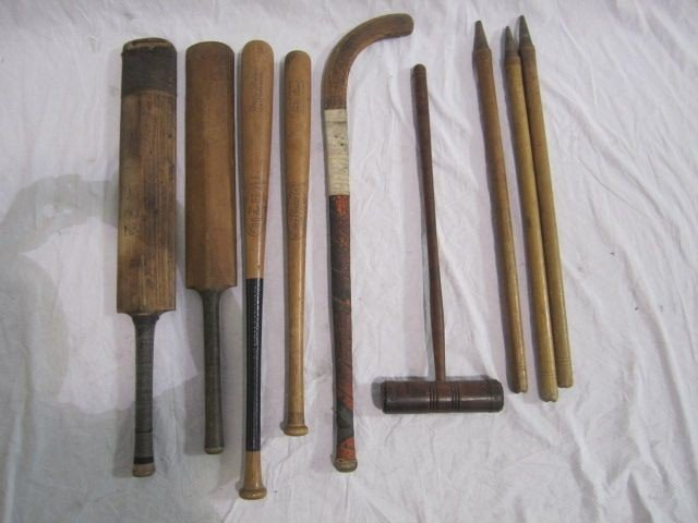 20: D50-20  LOT OF 9 VINTAGE SPORT STICK