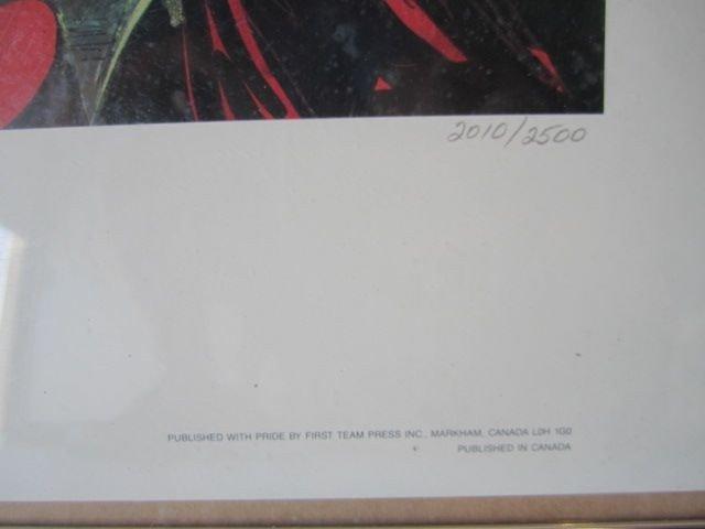 "56: D70-18  SIGNED ""JIM LEE"" PRINT - 2"