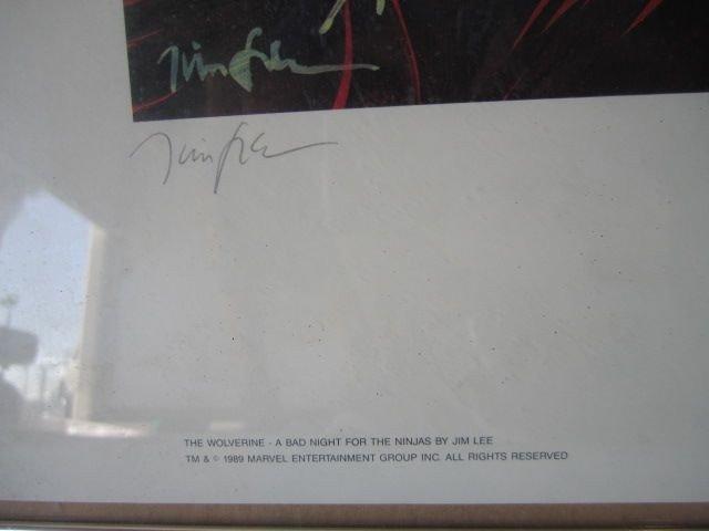 "56: D70-18  SIGNED ""JIM LEE"" PRINT - 3"