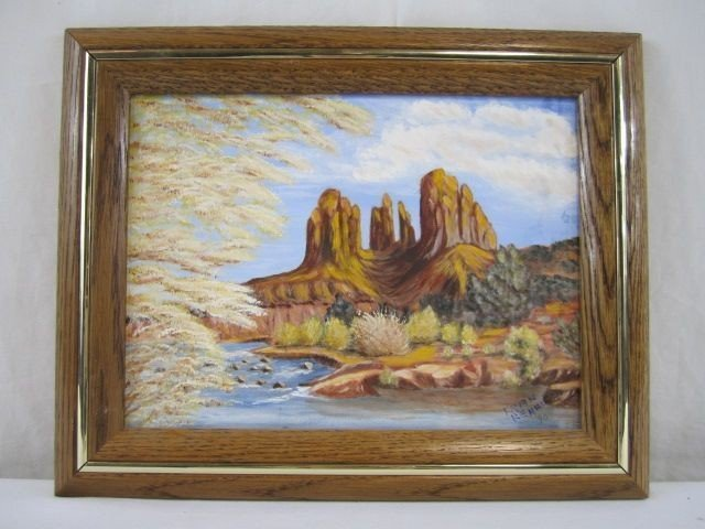 146: A1-2  OIL PAINTING OF SEDONA