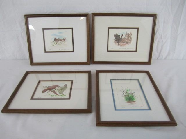 232: C80-1  SET OF 4 ETCHINGS BY KENNETH STANCIN