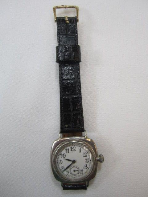 68: C78-3  STERLING 1925 ROLEX OYSTER CUSHION WATCH