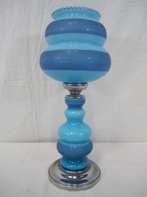 528: F14-20  BLUE GLASS LAMP