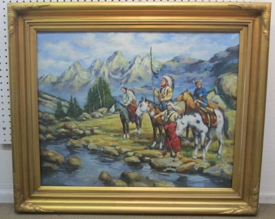 248: A4-6  BEAUVAIS SIGNED OIL ON CANVAS