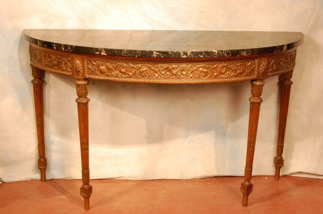 54: F60-306  RENAISSANCE STYLE MARBLE TOP CONSOLE