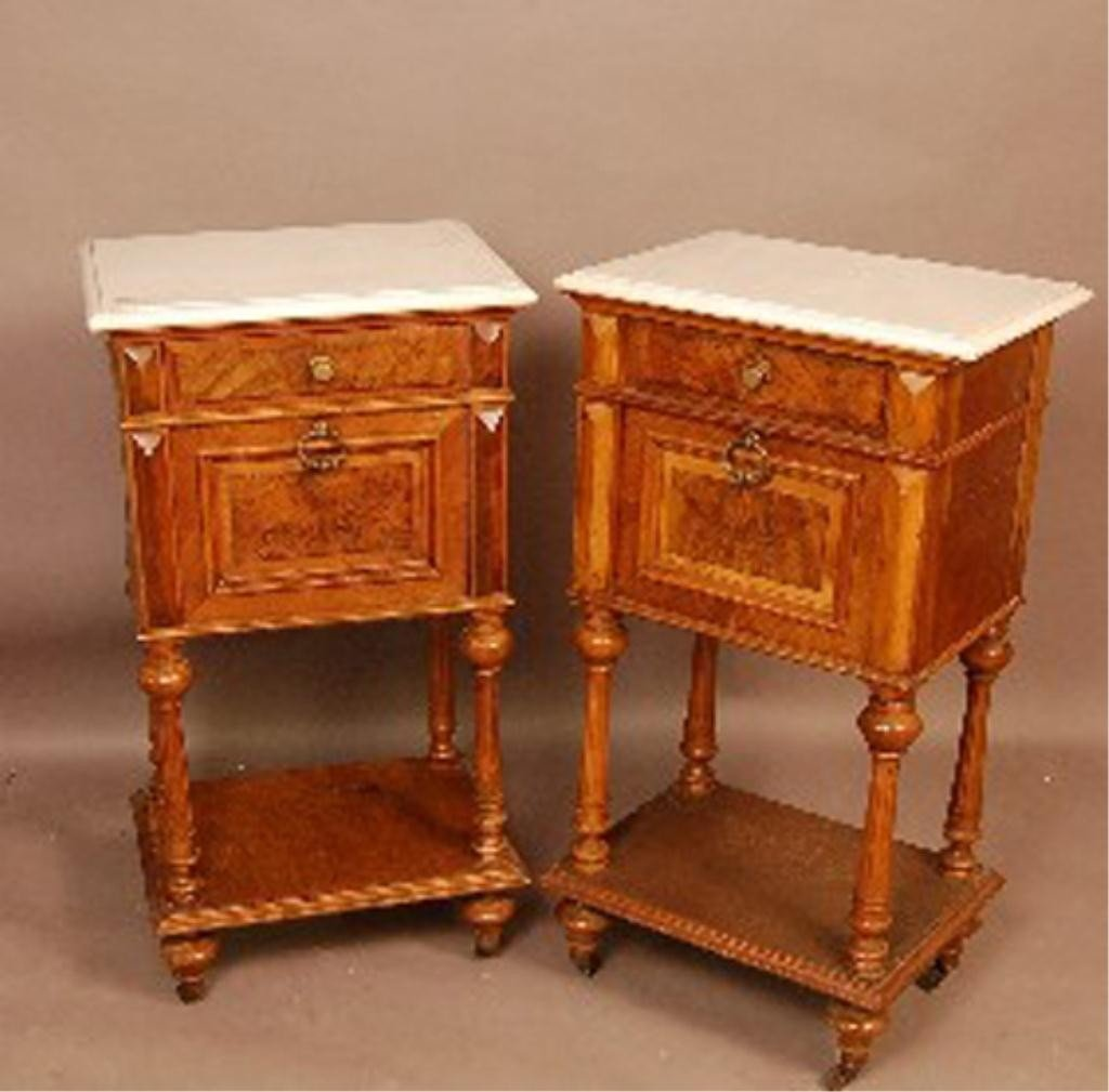 58: F60-310  PAIR OF RENAISSANCE VICTORIAN CABINETS