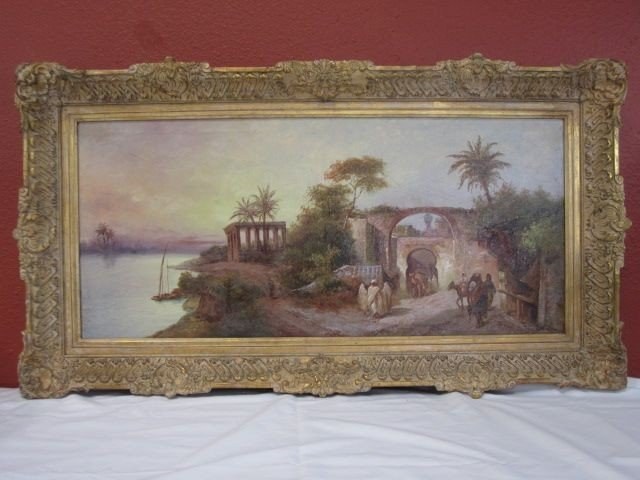 45: A45-5  LARGE ORIENTALIST PAINTING