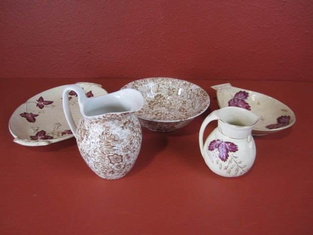 10D: F58-4  LOT OF TWO PITCHER & BOWL SETS