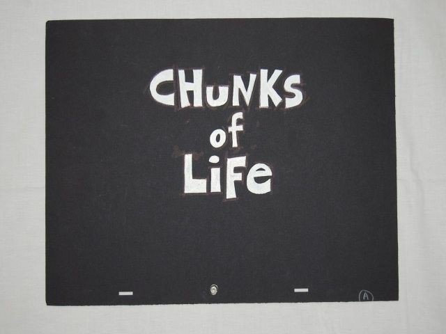 1: CHUNKS OF LIFE CONCEPT ART & PROPS 1995 TV